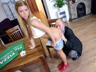 Chrissy Fox has the sweetest teen pussy ever and this old dude gets to fuck it