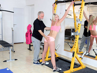 Martina loved how this old goes young guy drove her wild by sucking her tits