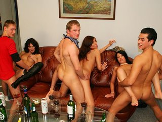 One of the pretty party girls screwed in bathroom
