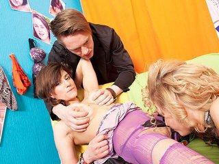 Hot girls in lesbian sex and masturbation